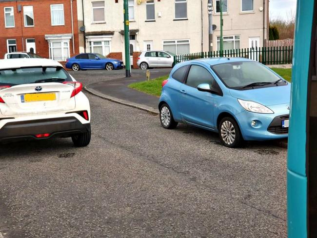 Double parked cars are preventing Arriva buses from serving Quarrington Hill estate, County Durham