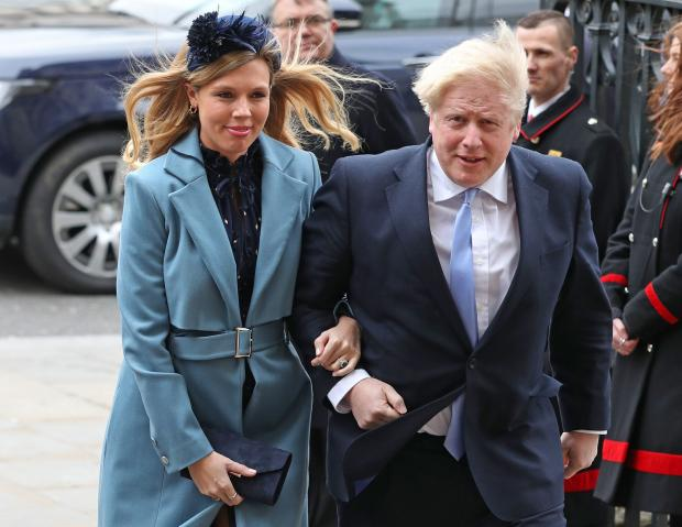 The Northern Echo: Prime Minister Boris Johnson and partner Carrie Symonds arriving at the Commonwealth Service at Westminster Abbey, London on Commonwealth Day. Picture: PA Wire