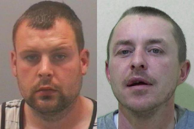 Marc Punton, left and Daniel Taylor, jailed after coughing and spitting at police while claiming to have coronavirus