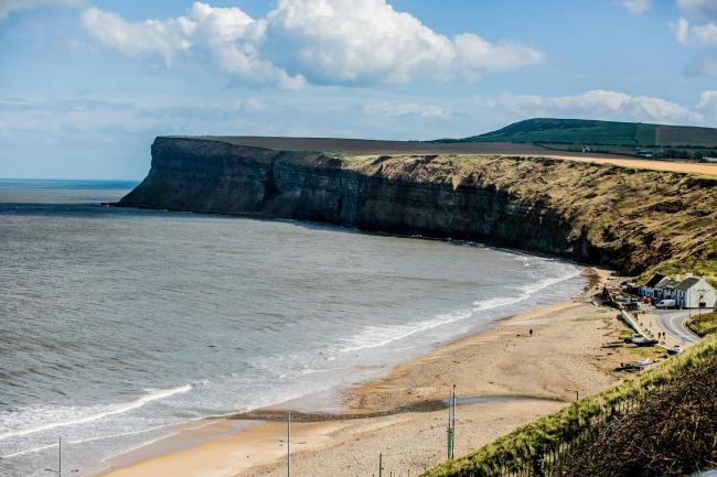 Police were called to reports of a large group of cyclists at Saltburn on Saturday