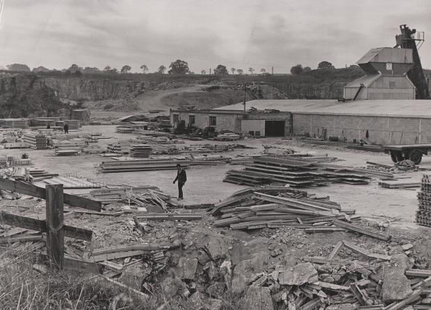 The Northern Echo: Barton quarry in 1969. It was created by the Merrybent railway and is beside the A1(M) junction.