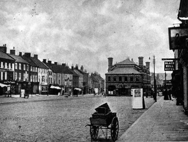 Northallerton: a town once stricken by plague. This is the High Street in the 1890s.