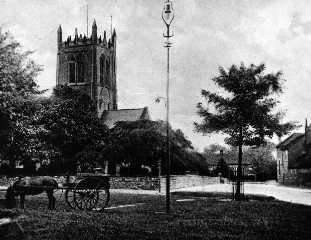 The Northern Echo: The churchyard where the plague victims were buried in Northallerton.