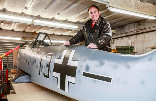 The Northern Echo: Stan Howes from Darlington who is building a Second World War German Focke Wulf 190 fighter. Picture: SARAH CALDECOTT
