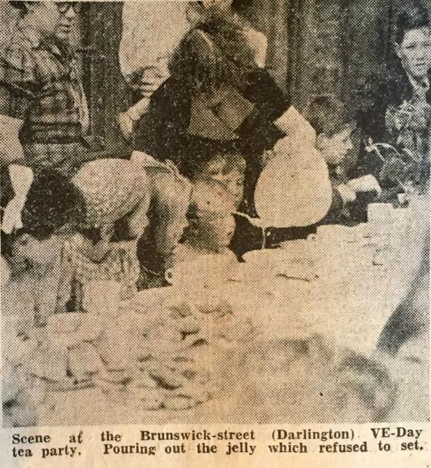 The Northern Echo: Perhaps Stan is somewhere amid this sea of expectant faces in this copy of a picture of the Brunswick Street party - the jelly refused to set, and so the ladies ended up pouring it out for the children