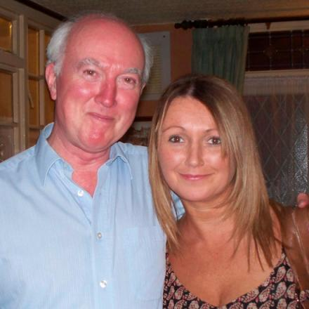 Peter Lawrence with is daughter, Claudia