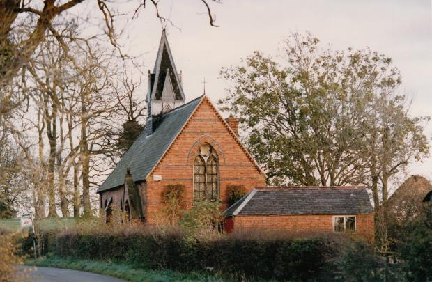 The Northern Echo: The church in Coatham Mundeville, built in the 1860s, to replace the lost chapel behind the pub. It has now been converted into a home.