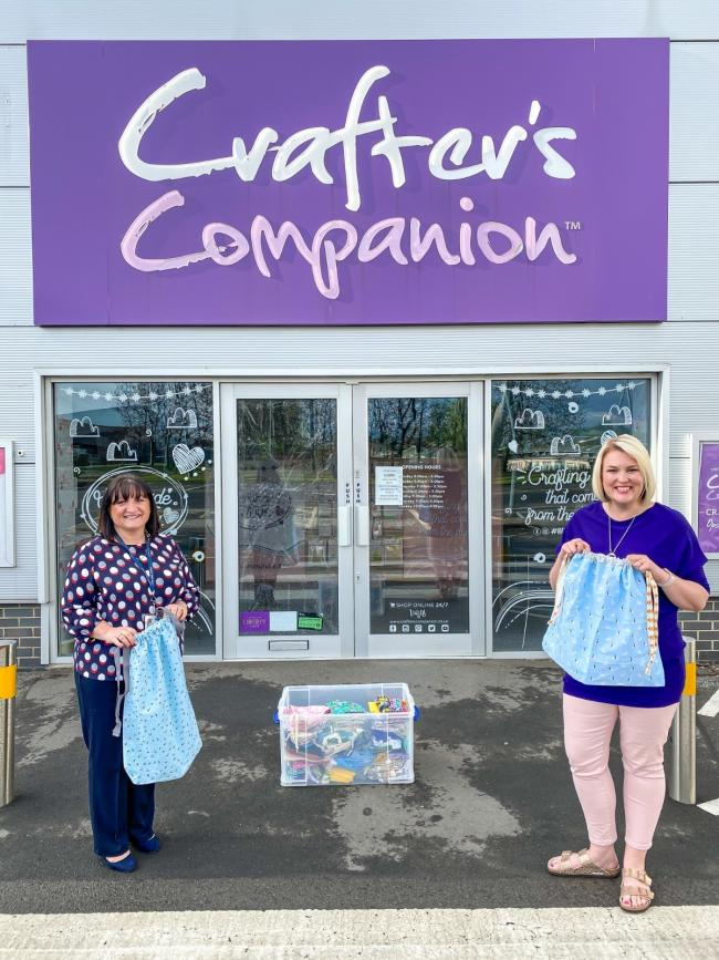 More than 250 scrub bags have been donated to care homes across the region