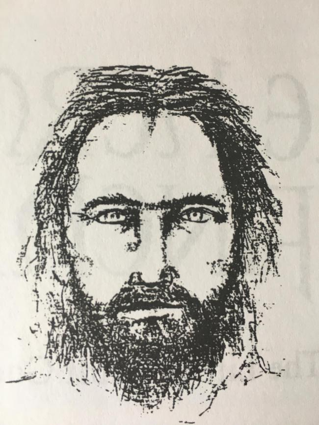 Detective Constable Bruce Burn's image of St Godric, sketched for book on the hermit saint early in the 1990s