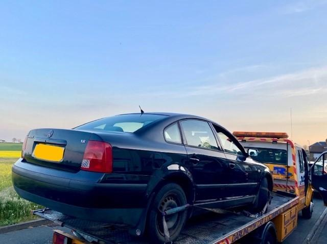 This car was seized by police after it was spotted being driven in Darlington by a motorist suspected to have neither a licence nor insurance