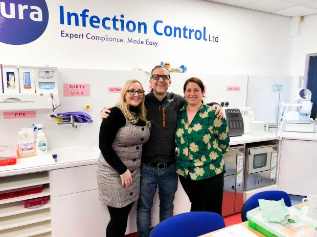 The Northern Echo: Far right, Laura Edgar of Aura Infection Control
