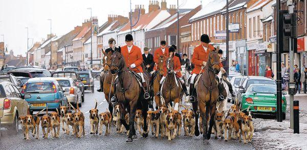 KEEPING A DATE: The traditional Boxing Day hunt sets off from Northallerton Market Place