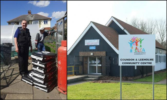 Bishop Auckland police donated compost, seized from a cannabis farm, to community groups