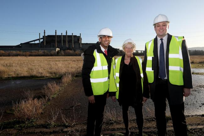 Chancellor Rishi Sunak, Councillor Mary Lanigan and Tees Valley Mayor Ben Houchen, pictured in January                                            Picture: DAVE CHARNLEY
