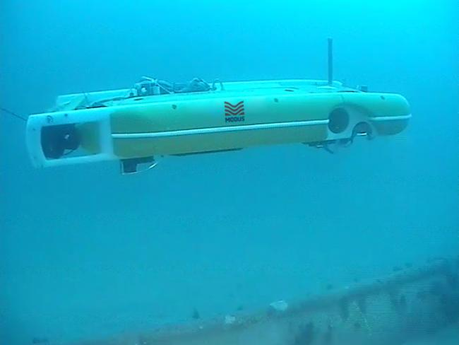 The H-AUV being used by Modus Seabed Inter-vention to survey the Gwynt-y-Môr offshore wind farm