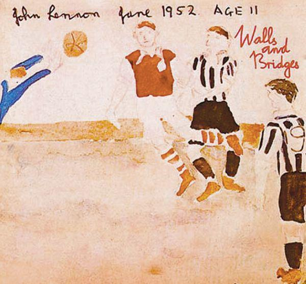 EXTRA TALENT: A sketch drawn by the late John Lennon which is thought to depict Newcastle United legend George Robledo heading home the winner in the 1952 FA Cup final