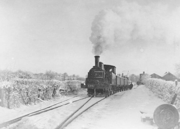 The Northern Echo: North Eastern Railway engine No 449 leaving Barton station on the Merrybent railway in 1901