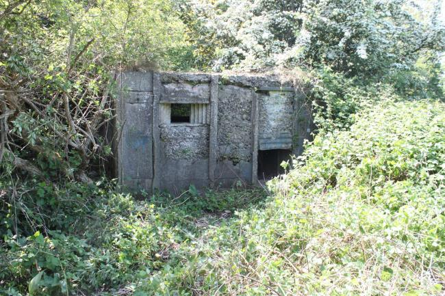 One of the pillboxes that are situated on either side of Blackwell Bridge on the south of Darlington
