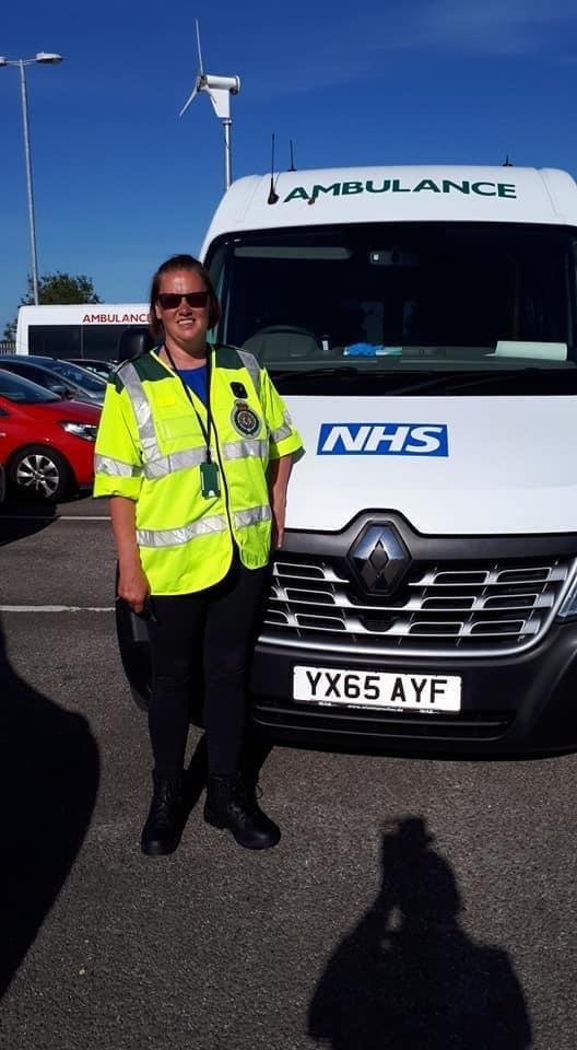 Tracy Spencer, from Gateshead, who has put herself forward to volunteer as a ambulance driver during coronavirus pandemic where she deep cleans the vans, delivers essential PPE and transports patients to hospitals across the North East.
