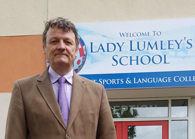 Cllr Greg White, who says people must look to the future of Lady Lumley's School