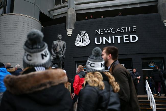 NEWCASTLE UPON TYNE, ENGLAND - DECEMBER 28: General view outside the stadium as fans arrive prior to the Premier League match between Newcastle United and Everton FC at St. James Park on December 28, 2019 in Newcastle upon Tyne, United Kingdom. (Photo by