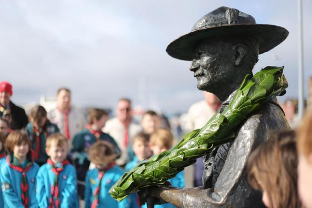 Statue of Scouts founder Robert Baden-Powell