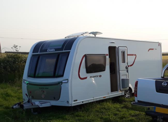 The caravan suspected of being stolen from Ponteland was traced to Druridge Bay