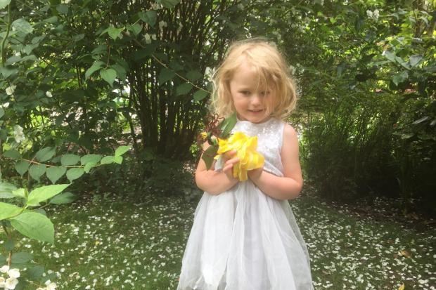 Chloe with Laburnum