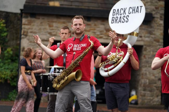 The UK's own Back Chat Brass have entertained the crowds in Durham for years and will also deliver a workshop during the online festival