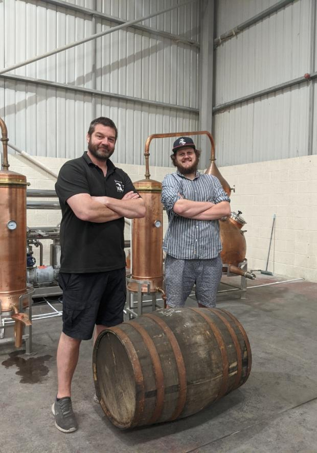 The Northern Echo: Luke Smith, of Grain to Glass Consultancy and Richard Marsden, of Yarm Distillery