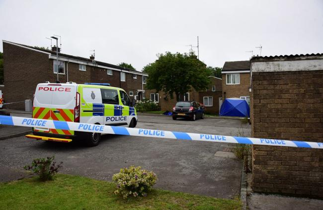 The area was cordoned off and a tent was erected at the scene whilst investigations were carried out Picture: NORTH NEWS