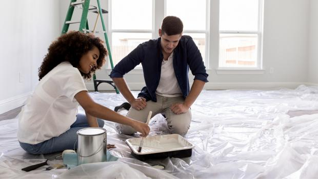 The Northern Echo: Prepping your workspace with a drop cloth or plastic covering is a key part of the process. Credit: Getty Images / SDI Productions