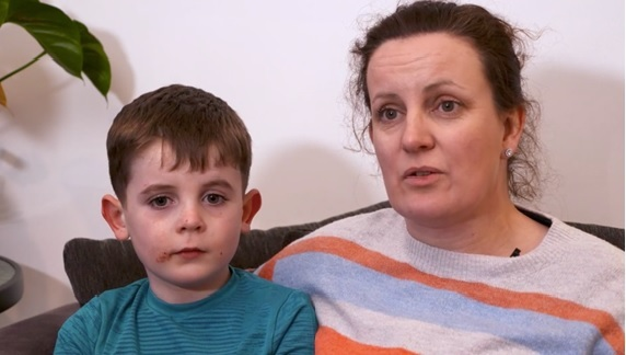 Mum speaks of horror after young son cycled into car's path