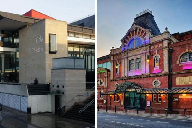 The Gala Theatre, left, and Darlington Hippodrome have been left unused for the past three months Picture: THE NORTHERN ECHO