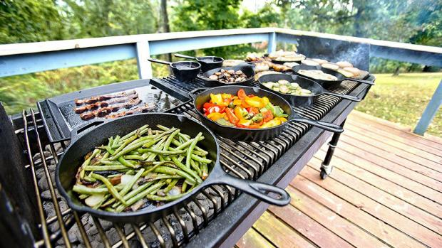 The Northern Echo: A good cast iron (or four) can help you cook up vegetable and more on the BBQ. Credit: Amazon / Lodge