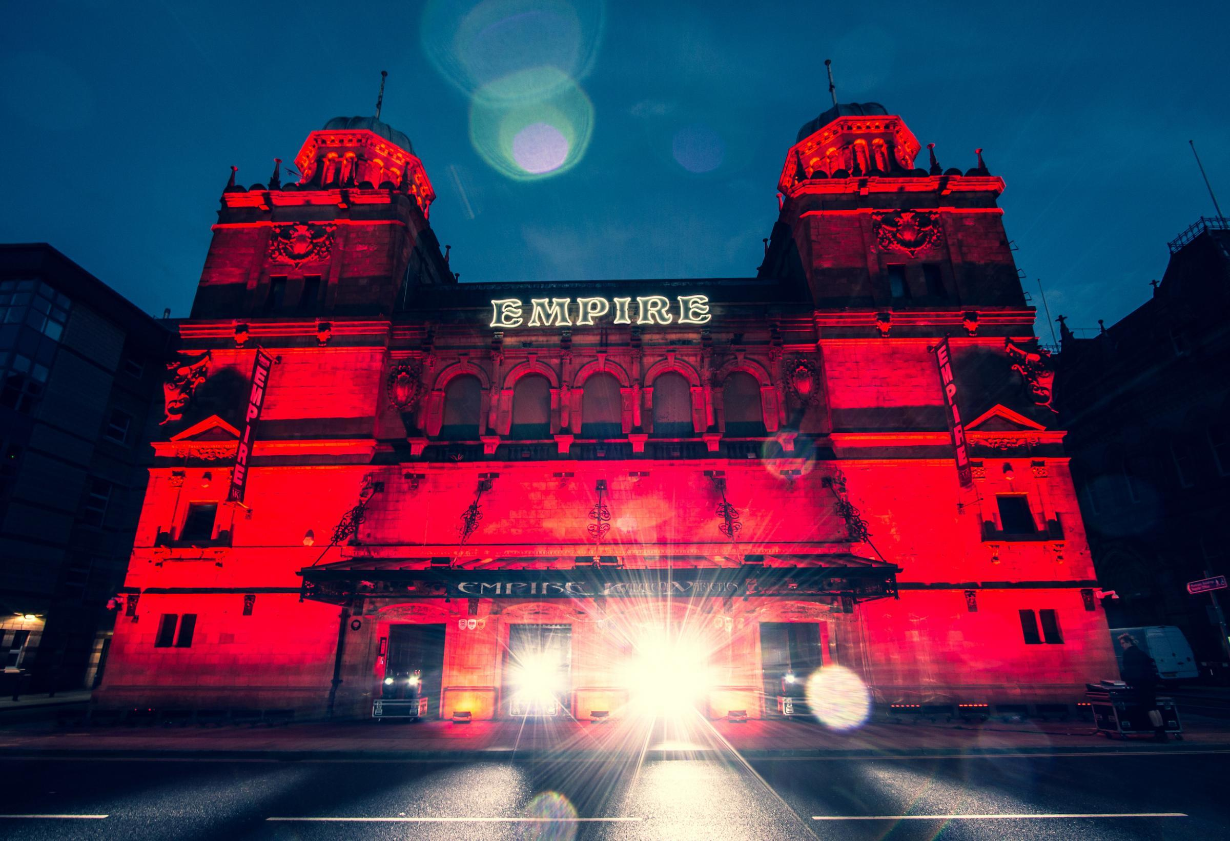 lightitinred campaign sees Middlesbrough Empire lit up | The Northern Echo