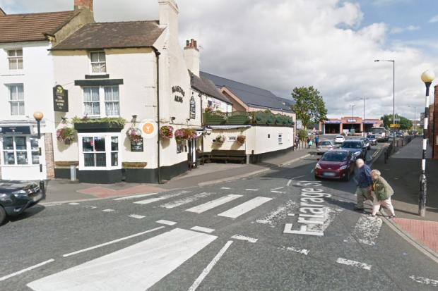 The crossing outside the Masons Arms in Northallerton. Picture: Google