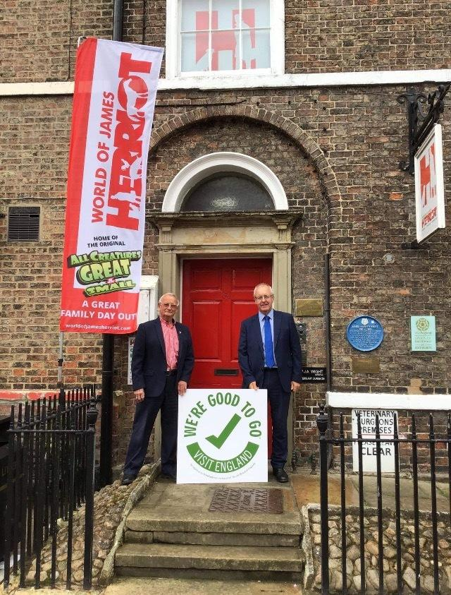 Ian Ashton and Cllr Mark Robson at the World of James Herriot
