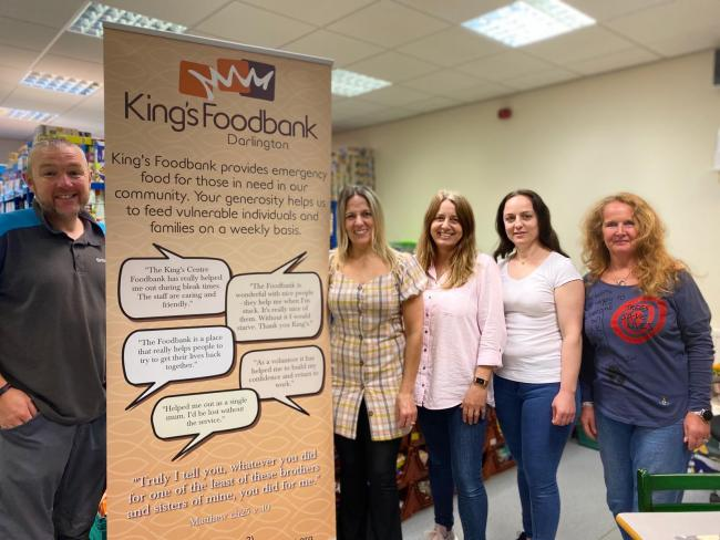 King's Church Foodbank has a close partnership with Darlington Support