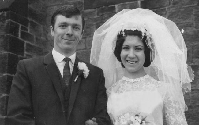 Duncan and Jean Bruce on their wedding day