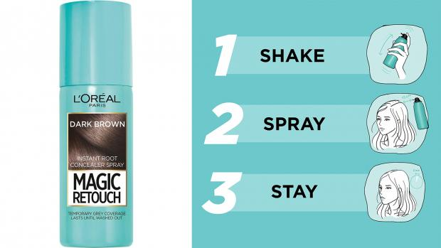 The Northern Echo: If you can't make it to the salon, you can cover up greys with this spray. Credit: L'Oreal Paris