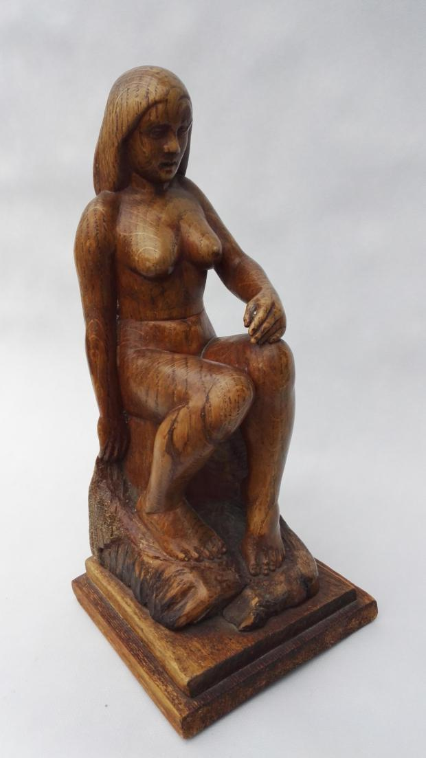 The Northern Echo: Woodcarving by Wilfred Franks, 1932. Probably made in the workshop at Boosbeck.
