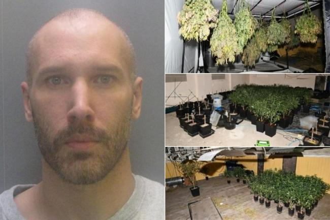 Electrician Paul McAllister was found hiding in roof space of ex-church building in Wheatley Hill, and the cannabis grow uncovered by police