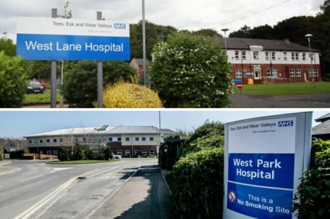 The trust runs West Lane Hospital, top, and West Park Hospital in Darlington, bottom Pictures: SARAH CALDECOTT