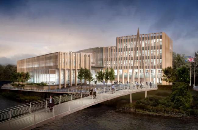 An artists impression of the new Durham County Council HQ