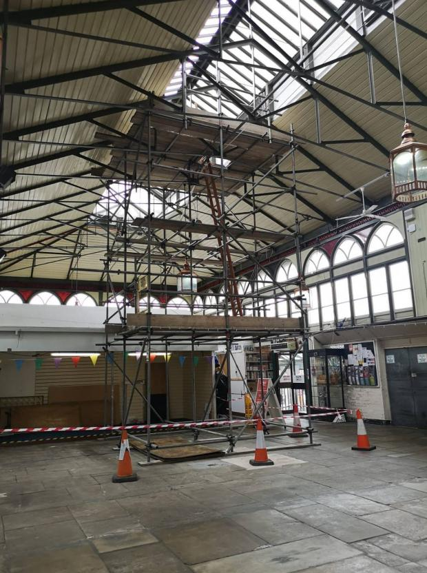 The Northern Echo: Work starts on the roof of Darlington's Indoor Market