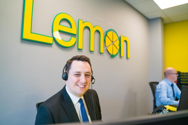 Ben Houchen, Tees Valley Mayor (centre) with the team at Lemon Business Solutions