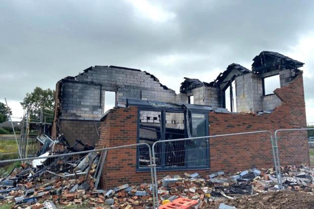 The Northern Echo: The home will need to be demolished Picture: JIM SCOTT