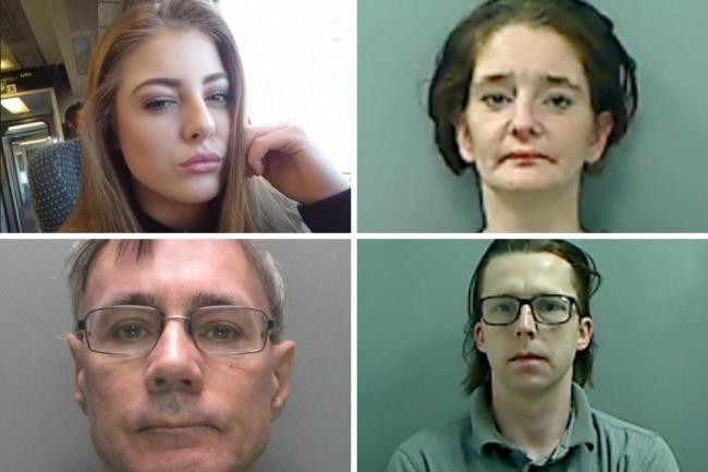 Pictured: Leah Hayes, top left, died after taking ecstasy; Nicola Johnston, top right, was jailed for a sneak burglary; Nigel Lodge, bottom left, was jailed for sex offences; Daniel Conroy, bottom right, was jailed for attempted robbery.