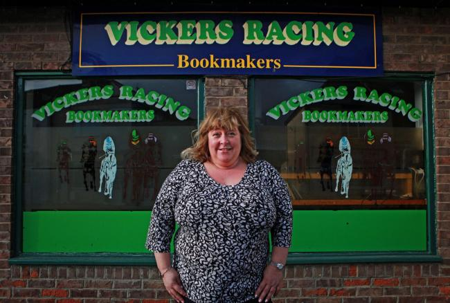 FEMALE BOOKMAKER: Johan Moncur,  who runs Vickers Racing, one of the few independent bookmakers left in the country. Picture:SARAH CALDECOTT...